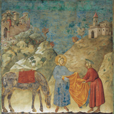 The Gift of the Mantle Giclee Print by  Giotto di Bondone