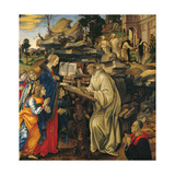 Apparition of the Virgin To St Bernard Lámina giclée por Filippino Lippi