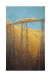 The Pacific Railway Giclee Print by Gaetano Previati