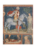 St George and the Princess Giclee Print by Master of the Last Judgment