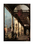 Perspective with Portico Giclee Print by  Canaletto