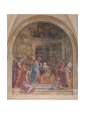 Visitation Reproduction procédé giclée par Jacopo (Pontormo)