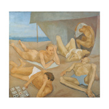 The Beach Giclee Print by Alberto Ziveri