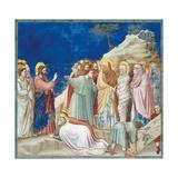Stories of Christ the Raising of Lazarus Impression giclée par  Giotto di Bondone