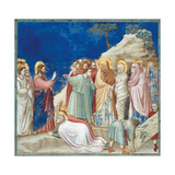 Stories of Christ the Raising of Lazarus Giclee Print by  Giotto