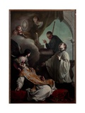 The Saints Andrew Avellino, Louis Gonzaga and Stanislaus Kostka Giclee Print by Giambettino Cignaroli
