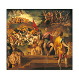 The Martyrdom of the Ten Thousand Giclée-tryk af Jacopo Pontormo