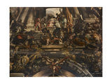 Ceiling Fresco. Martyrdom and Glory of St Pantalon Giclee Print by Giovanni Antonio Fumiani