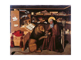St Jerome in the Studio Giclee Print by  Colantonio