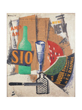 Watermelon and Liquors Giclee Print by Soffici Ardengo
