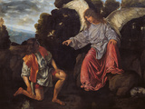Archangel Raphael and Tobias (Tobias and the Angel) Giclee Print by Giovanni Girolamo