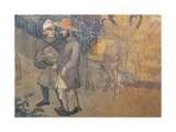 The Effects of Good Government in the Country Giclee Print by Lorenzetti Ambrogio