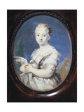 Young Lady with a Dove Giclée-tryk af Rosalba Carriera