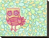 Spring Owl Stretched Canvas Print by  My Zoetrope