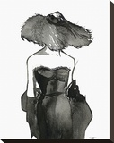 Dior Dame Stretched Canvas Print by Jessica Durrant