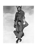 Jerry Lewis and Dean Martin in Jumping Jacks Photographic Print