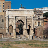 Arch of Septimius Severus in Rome Photographic Print by Roman architecture