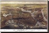 The City of Boston, Massachusetts, 1873 Stretched Canvas Print by  Parsons and Atwater
