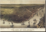 The City of New Orleans, Louisiana, 1885 Stretched Canvas Print by  Currier & Ives