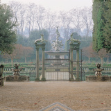 Boboli Gardens: Fountain of the Ocean with Neptune Statue Photographic Print by  Giambologna