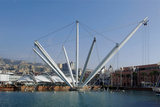 Genoa: the Porto Antico (the Old Harbor) with the Bigo Photographic Print by Renzo Piano Building Workshop