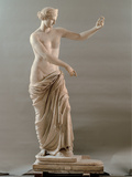 Statue of Aphrodite Type Capua, 2nd Century, White Marble, Full Relief Photographic Print by Unknown Artist