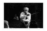 Slava Rostropovich Conducting the Turin Rai Orchestra Photographic Print