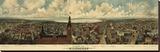 Panoramic View of Milwaukee, Wisconsin, 1898 Stretched Canvas Print by  Gugler Litho.