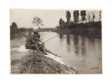Soldiers Fishing Photographic Print