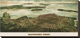 Bird's Eye View of Sandusky, Ohio, 1898 Stretched Canvas Print by  Alvord Peters Co.
