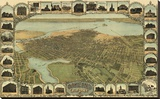Oakland, California, 1900 Stretched Canvas Print by Fred Soderberg