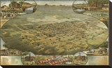 Bird's Eye View of Phoenix, Arizona, 1885 Stretched Canvas Print by C.J. Dyer