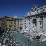 Trevi Fountain Photographic Print by Giuseppe Pannini, Nicola Salvi