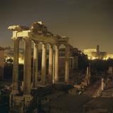 Roman Architecture, Roman Forum, 5th Century A.C. Photographic Print by Architettura romana
