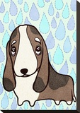 Hound Stretched Canvas Print by  My Zoetrope