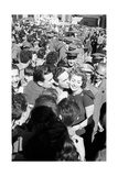 Some Fans Surrounding Sophia Loren Photographic Print