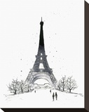 Paris Stretched Canvas Print by Jessica Durrant