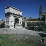 Roman Architecture, Titus Arch, Marble, 81 - 90 D.C., 1st Century D.C. Photographic Print by Architettura romana