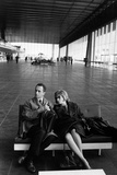 Monica Vitti with Michelangelo Antonioni Photographic Print