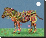 Zebra Stretched Canvas Print by Teofilo Olivieri