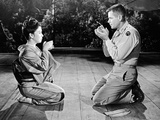 Machiko Kyo and Glenn Ford in the Teahouse of the August Moon Photographic Print