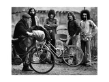 I Camaleonti Are Posing Behind Two Bicycles Photographic Print