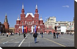 Red Square with State Historical Museum, Moscow, Russia Stretched Canvas Print