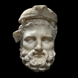 Head of Heracles, 1st Century B.C. Photographic Print