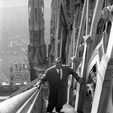 Primo Carnera on a Staircase of the Cathedral of Milan Photographic Print