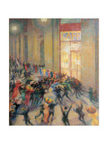 A Fight in the Arcade Giclee Print by Boccioni Umberto
