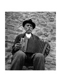 Old Man Playing Accordion Photographic Print