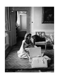 Ira Von Fuerstenberg Packing Her Things Photographic Print