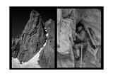 Two Shoots Sequence of Walter Bonatti Climbing the Grand Capucin Photographic Print