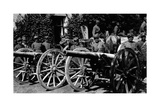 Italian Soldiers Posing with Cannons Seized To Austrian Army Photographic Print